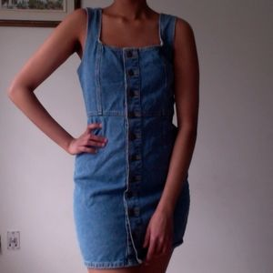 Urban Outfitters Denim Button-Down Dress